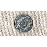 Восточные Карибские острова /карибы/ 5 центов 2002 //(ON)