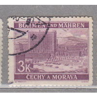 Германия рейх  Богемия и Моравия Местные мотивы 1939 г архитектура   лот 5    3