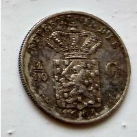 Голландская Ост-Индия 1/10 гульдена, 1901 1-7-25
