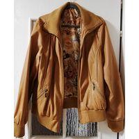 Кожаная куртка, на р-р 52-54