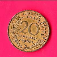 16-29 Франция, 20 сантим 1962 г.