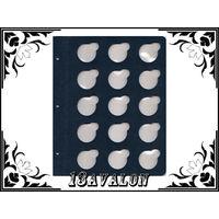 Лист Синий, для монет в капсулах D= 38 мм, Коллекционер КоллекционерЪ в альбом для капсул