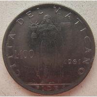 Ватикан 100 лир 1961 г. (gl)