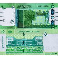 Судан 10 фунтов образца 2017 года UNC p73c