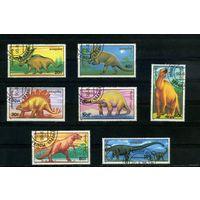 Монголия 1990. Динозавры. Полная серия