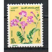 Цветы Египет 1972 год серия из 1 марки