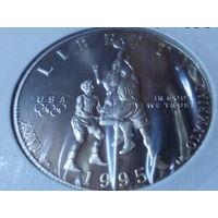 США 50 центов 1995.Олимпийские Игры в Атланте. Баскетбол .