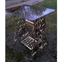"""Ретро в стиле техно! Ажурное чугунное литьё начала прошлого века - столик """"Original""""."""