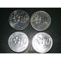 Малайзия 10 сен цена за монету (список)