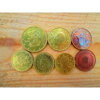 7 монет мелких евро