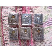 Набор иконок в серебряном окладе