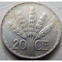 10. Уругвай 20 сантимов 1942 год, серебро*