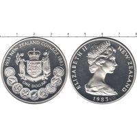 Новая Зеландия 1 доллар 1983 50 лет чеканки монет UNC