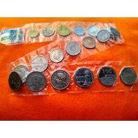 Монеты Узбекистана. Лот монет 1994-2011 годов. 19 монет в запайках, есть юбилейные