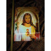 Икона католическая 3D эфект.