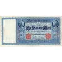 Германия, 100 марок, 1910 г., печать красная *