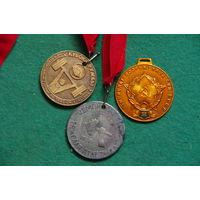 Медали спортивные 3 шт .