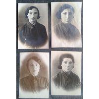 Фотографии личного состава воинского женского подразделения. До 1942 г. 10 шт. с Ф.И.О. Иудаика