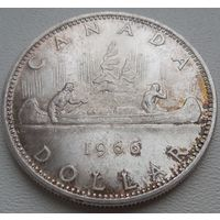 Канада 1 доллар 1966, серебро