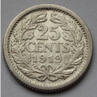 Нидерланды 25 центов, 1919 г.