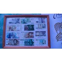 Картина  из копий денежных знаков разных стран. No1 распродажа