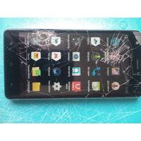 Мобильный телефон Техет-смартфон X-shine/tm-5007 4gb рабочий ,тачскрин треснут ,новая батарея