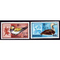2 марки 1978 год Монголия Птицы 1158-1159