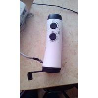 Динамо фонарь с радио