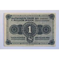 Германия (Ганновер), 1 миллион марок 1923 год.