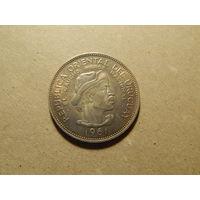 10 песо Уругвай 1961 красивая монетка