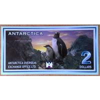 Антарктика 2$ 1999г -UNC-