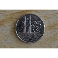 Каймановы острова 25 центов 2013