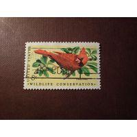 США 1972 г.Красный кардинал или Виргинский кардинал./3а/