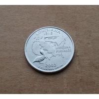 США, квотер 2002 г., штаты, Луизиана, D