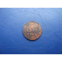 3 гроша 1814                   (4419)