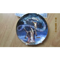 Тарелка - заклинание колдуна - кристалл Swarovski