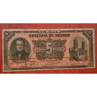 Мексика 5 песо 1910