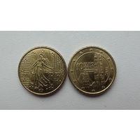 Монеты Франции и Австрии 2008 год.Состояние!