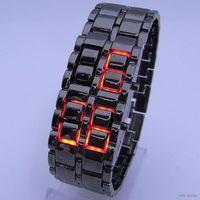 Стильные LED часы Lava Style Iron Samurai красные светодиоды новые в Минске.