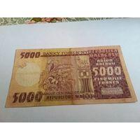 Мадагаскар 5000 ариари 1974 год
