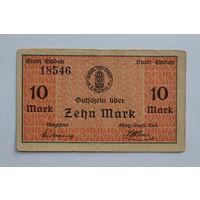 Германия  10 марок 1919 год  (г. Эмден)