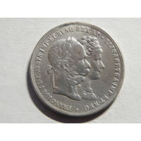 Австро-Венгрия 2 флорина (серебряная свадьба) 1879г