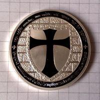Орден Тамплиеров -черная эмаль-