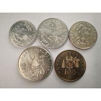 Новая Каледония. Номиналы 1,2,5,10,20,50,100 франков. Полный комплект 2003 года