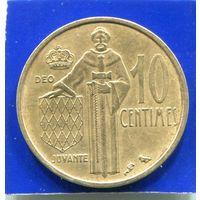 Монако 10 сантимов 1962