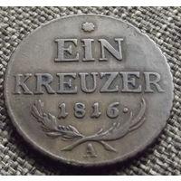 Австрия. 1 крейцер 1816 А