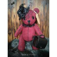 """Винтажная мишка """"Леди"""", медведь, игрушка, ручная работа."""