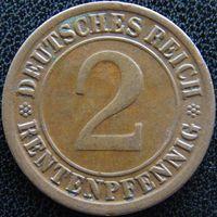 YS: Германия, 2 рентенпфеннига 1923F, KM# 31