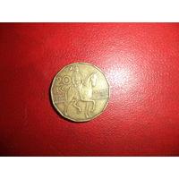 20 крон 1993c Чехия КМ# 5 латунь
