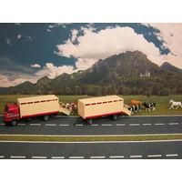 Модель грузового автомобиля Mercedes-Benz скотовоз. Масштаб HO-1:87.
